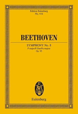 Symphonie Nr. 8 F-Dur BEETHOVEN Partition Petit format - laflutedepan