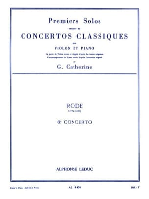 1er Solo du Concerto n° 6 Rode Pierre / Catherine Georges laflutedepan