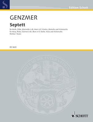 Septett - Conducteur Harald Genzmer Partition laflutedepan