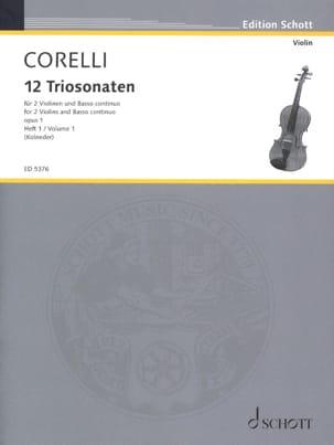 12 Triosonaten op. 1 - Bd. 1 : Nr. 1-4 -2 Violinen u. Bc laflutedepan