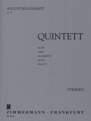 Quintett op. 79 - Stimmen August Klughardt Partition laflutedepan