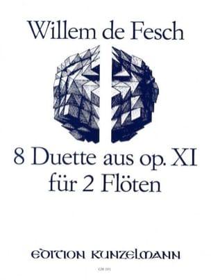 8 Duette aus op. 11 - 2 Flöten Willem de Fesch Partition laflutedepan