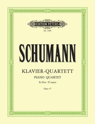 Klavierquartett Es-Dur op. 47 -parties SCHUMANN laflutedepan