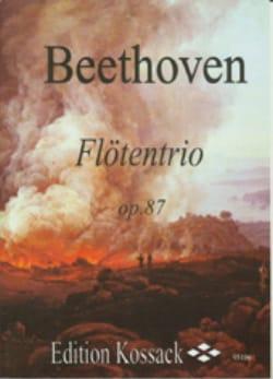 Flötentrio Op. 87 BEETHOVEN Partition Flûte traversière - laflutedepan
