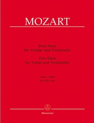 2 duos pour Violon et Violoncelle MOZART Partition 0 - laflutedepan