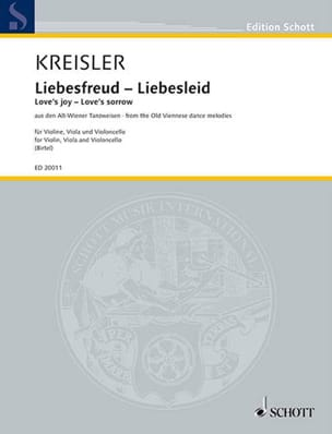 Liebesfreud - Liebeslied KREISLER Partition Trios - laflutedepan