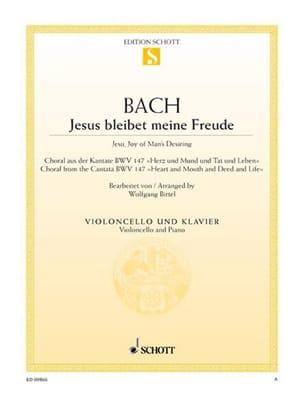 Jesus Bleibet Meine Freude - Violoncelle BACH Partition laflutedepan