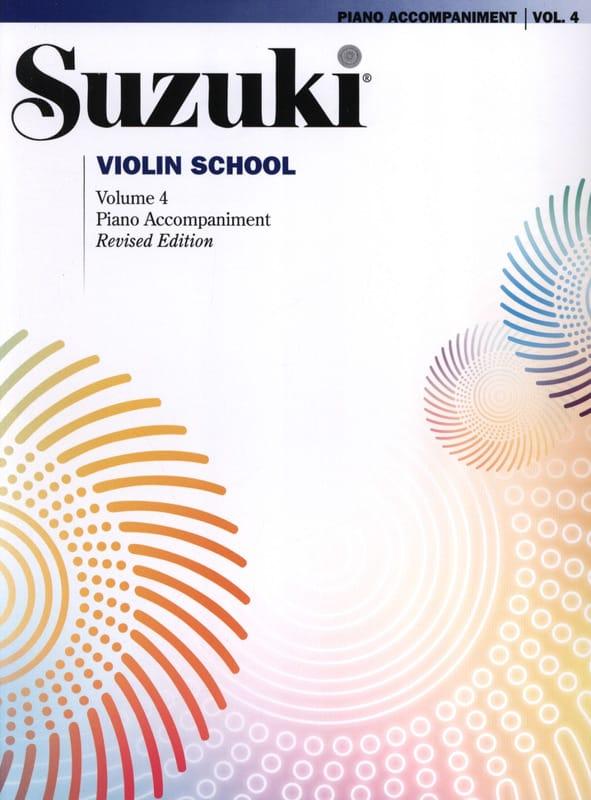 Violin School Vol.4 - Accompagnement Piano - SUZUKI - laflutedepan.com