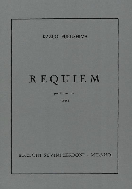 Requiem - Flauto solo - Kazuo Fukushima - Partition - laflutedepan.com