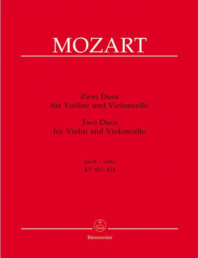 deux duos pour violon et violoncelle - MOZART - laflutedepan.com
