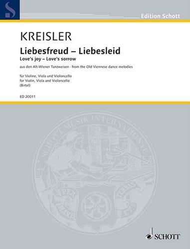 Liebesfreud - Liebeslied - KREISLER - Partition - laflutedepan.com