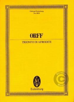 Trionfo Di Afrodite - Conducteur ORFF Partition laflutedepan