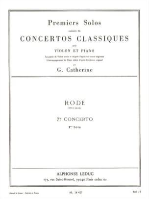 1er Solo du Concerto n° 7 Rode Pierre / Catherine Georges laflutedepan