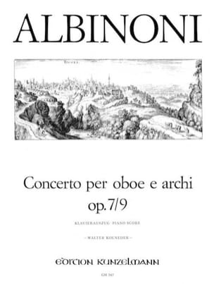 Concerto per oboe op. 7 n° 9 ALBINONI Partition laflutedepan