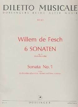 6 Sonaten op. 6 - Sonata Nr. 1 F-Dur Willem de Fesch laflutedepan