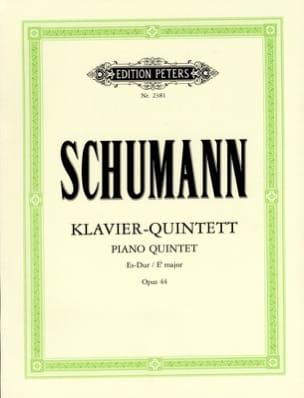 Klavierquintett Es-Dur op. 44 SCHUMANN Partition laflutedepan