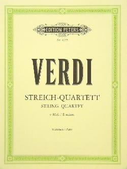 Streichquartett e-moll -Stimmen VERDI Partition laflutedepan