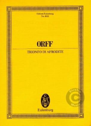 Trionfo Di Afrodite - Conducteur - ORFF - Partition - laflutedepan.com