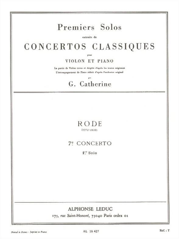 1er Solo du Concerto n° 7 - laflutedepan.com