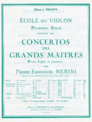 1er Solo du Concerto n° 22 Nerini - laflutedepan.com