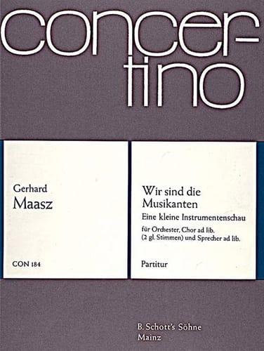 Wir sind die Musikanten - Partitur - Gerhard Maasz - laflutedepan.com