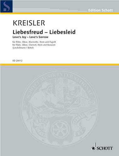 Liebesfreud - Liebeslied - Bläserquintett - Partitur + Stimmen - laflutedepan.com