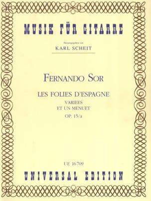 Les Folies d'Espagne variées et un Menuet op. 15/a SOR laflutedepan