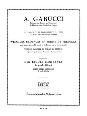 26 Cadences en forme de préludes Agostino Gabucci laflutedepan