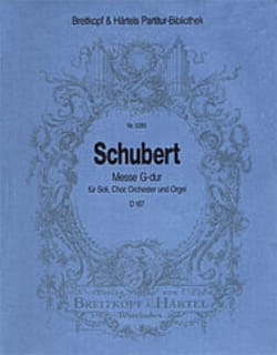 SCHUBERT - Mass G-Dur D 167 - Partitur - Partition - di-arezzo.co.uk