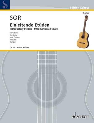 Einleitende Etüden op. 60 SOR Partition Guitare - laflutedepan