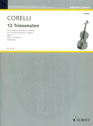 12 Triosonaten op. 1 - Bd. 3 : Nr. 7-9 - 2 Violinen u. Bc laflutedepan