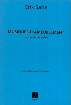 Musiques d'Ameublement - Petit Ensemble SATIE Partition laflutedepan