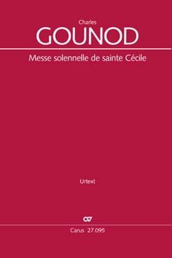 Messe de Sainte-Cécile - Conducteur GOUNOD Partition laflutedepan