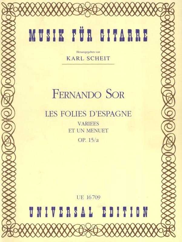 Les Folies d'Espagne variées et un Menuet op. 15/a - laflutedepan.com