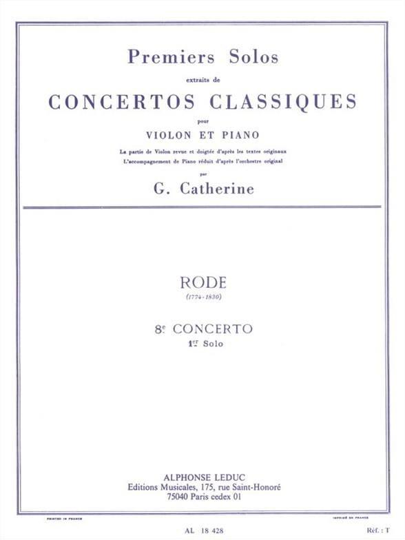 1er Solo du Concerto n° 8 mi mineur op. 13 - laflutedepan.com