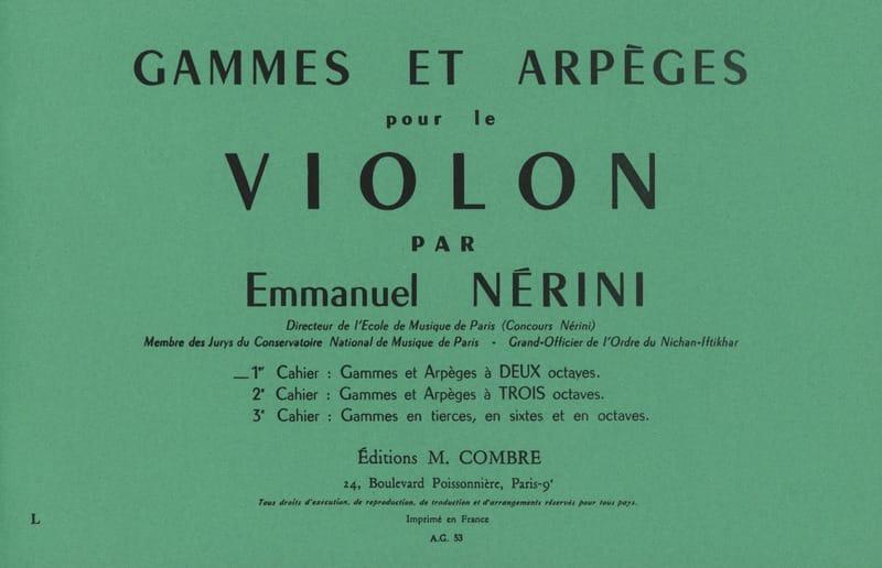 Gammes et Arpèges Volume 1 - Emmanuel Nerini - laflutedepan.com