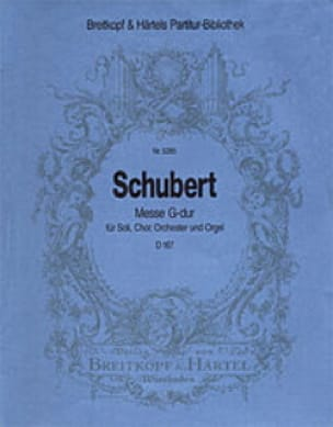 Messe G-Dur D 167 - Partitur - SCHUBERT - Partition - laflutedepan.com