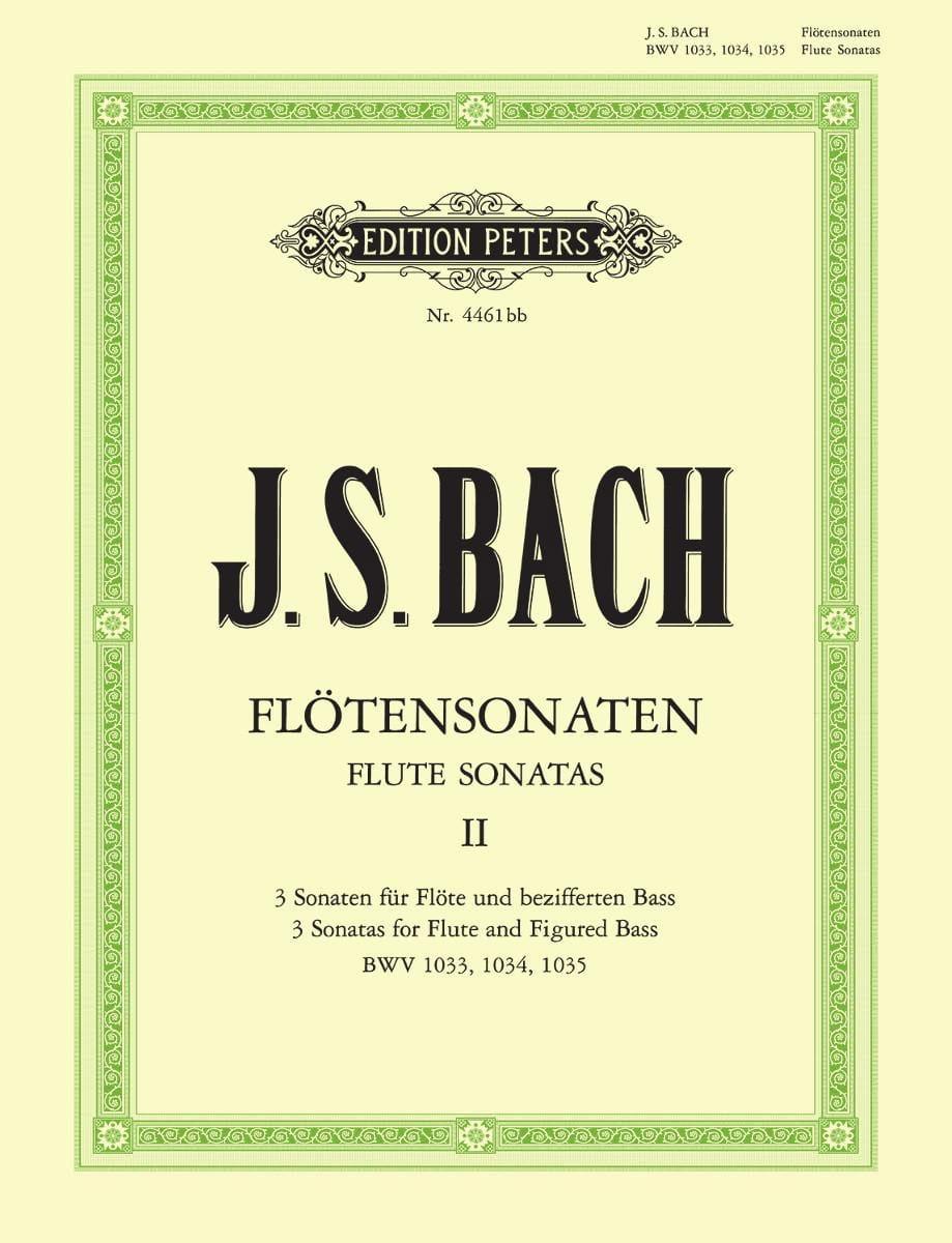 Sonates pour Flûte Vol. 2 - BWV 1033, 1034, 1035 - laflutedepan.com