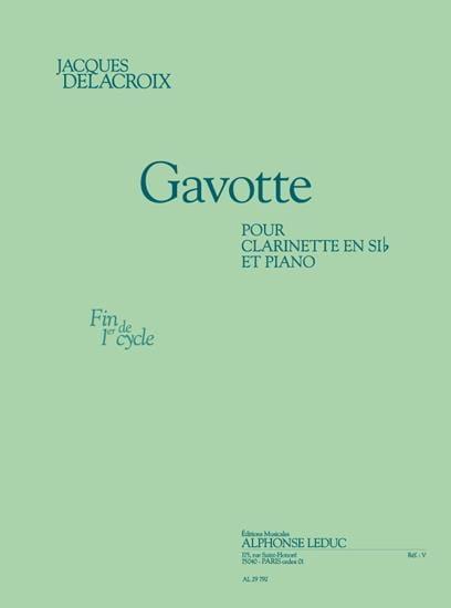Gavotte - Jacques Delacroix - Partition - laflutedepan.com