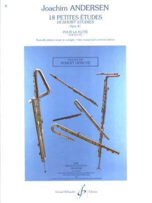 18 Petites Etudes Op. 41 ANDERSEN Partition laflutedepan