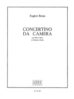 Concertino da Camera - Flûte piano Eugène Bozza Partition laflutedepan