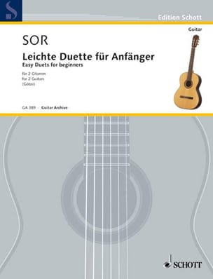 Leichte Duette für Anfänger - 2 Gitarren SOR Partition laflutedepan