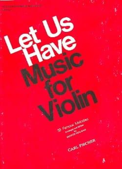 Let us have music for Violon, Volume 1 - laflutedepan.com