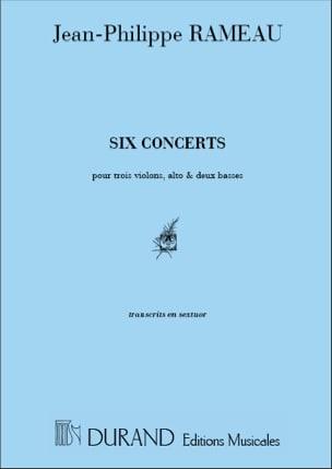 Six concerts - Transcr. en sextuor RAMEAU Partition laflutedepan