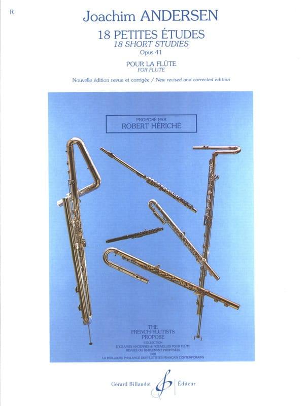 18 Petites Etudes Op. 41 - ANDERSEN - Partition - laflutedepan.com