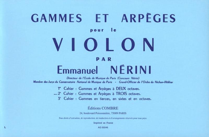 Gammes et Arpèges Volume 2 - Emmanuel Nérini - laflutedepan.com