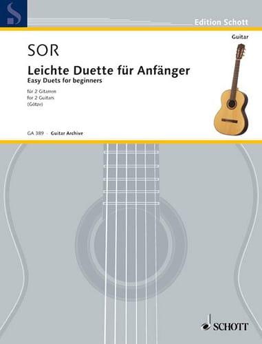 Leichte Duette für Anfänger - 2 Gitarren - SOR - laflutedepan.com