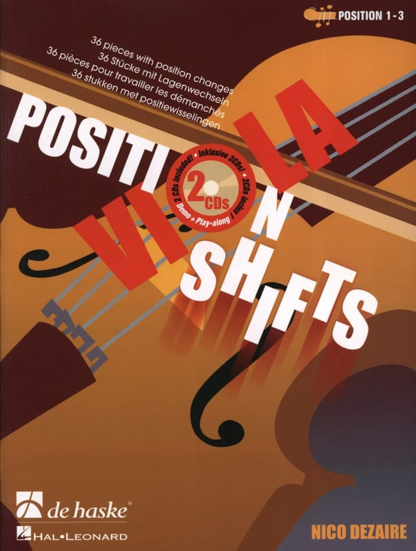 Position Shifts Viola + 2cd - Nico Dezaire - laflutedepan.com