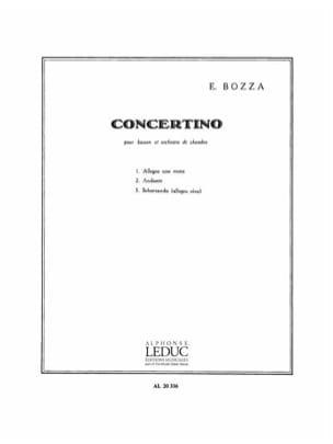 Concertino op. 49 Eugène Bozza Partition Basson - laflutedepan
