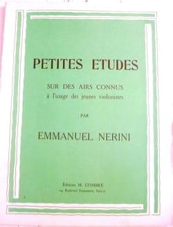 Emmanuel Nérini - Petites études - Partition - di-arezzo.fr